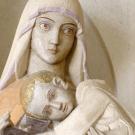 La vierge du cloître ; sculpture de Henri Charlier