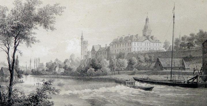 gravure Solesmes vers 1850